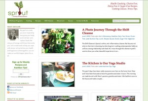 Sprout Lifestyle - Portland web design by Sarah G Creative