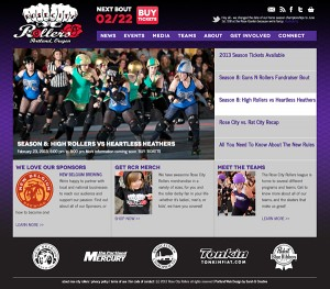 Portland web design - Rose City Rollers