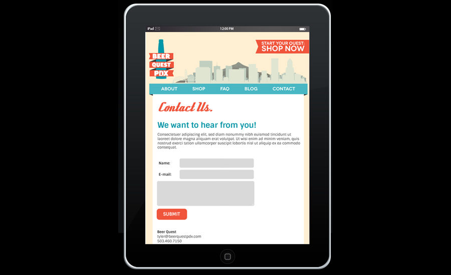mobile web design for tablets