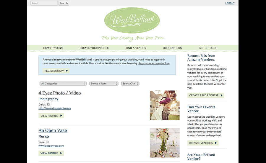 portland-web-design_wedbrilliant-vendor-search