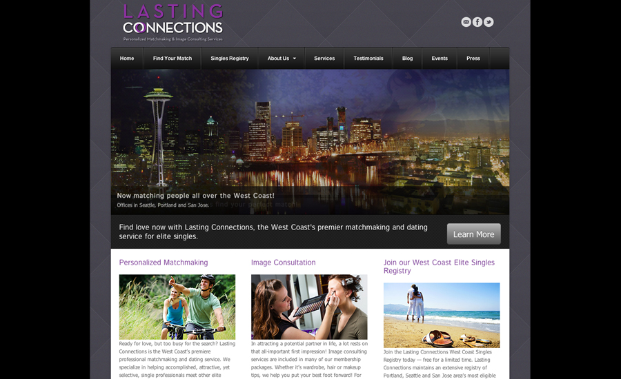 web design; built in WordPress