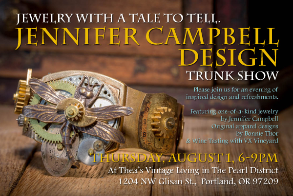 Postcard design for Jennifer Campbell Design